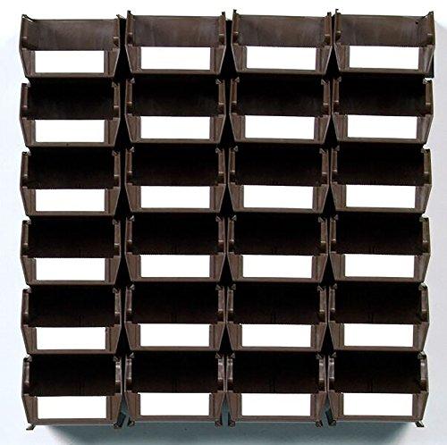 LocBin 3-220BRWS 26 Piece Wall Storage Unit Brown