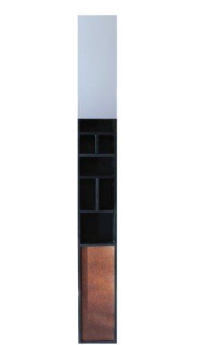 nexxt Grayson Wall Storage Unit With Mirror Black