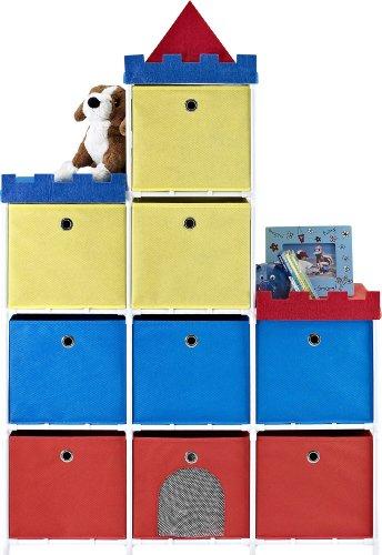 Altra Furniture 9-Bin Kids Storage Unit with Castle Theme