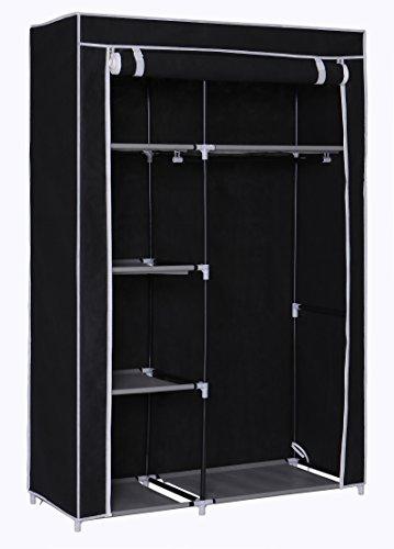 Home-Like Protable Cloth closet Non-Woven Fabric Wardrobe Bedroom Furniture Storage Black ColorL4285xW1836xH6448