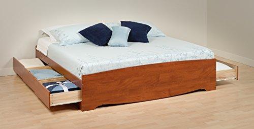 Prepac CBK-84XX-A Bed Platform Storage Furniture Cherry King