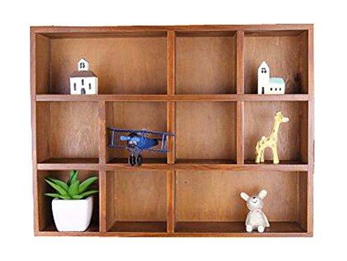 DRAGON SONIC Elegant Creative Natural Wood Storage Rack Wooden Cabinet Storage Chest