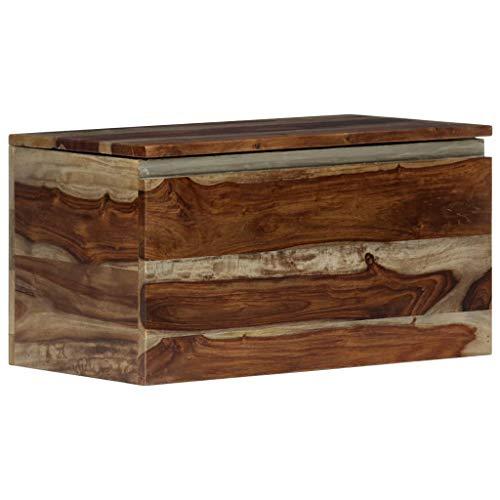 HBETTER Storage Chest 118x118x224 Solid Sheesham Wood Coffee Table End Table Storage Chest Storage Trunk Wood Trunk Treasure