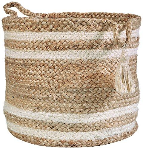 LR Home Montego Decorative Storage Basket 15 High Natural Jute