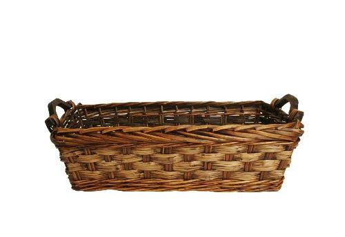 Wald Imports Brown Willow Rattan 17 Decorative Storage Basket