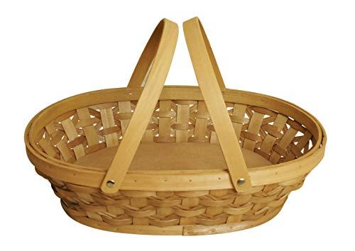 Wald Imports Brown Woodchip 15 Decorative Storage Basket