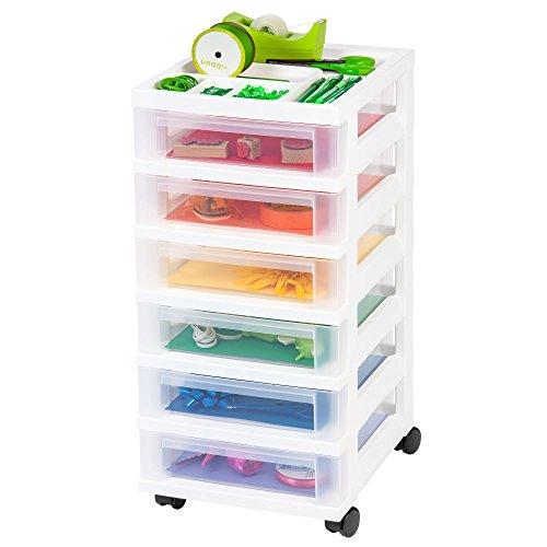 6-Drawer Storage Chest Storage Chest Organizer White