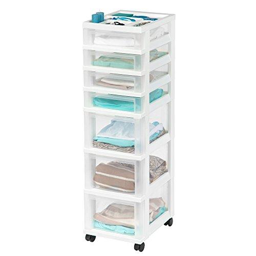 7-Drawer Storage Chest Storage Chest Organizer White