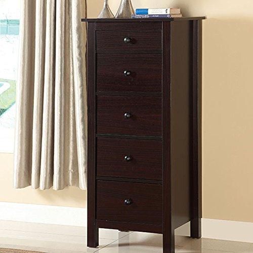 Furniture of America CM-AC119EX Launces Espresso Storage Chest Drawer