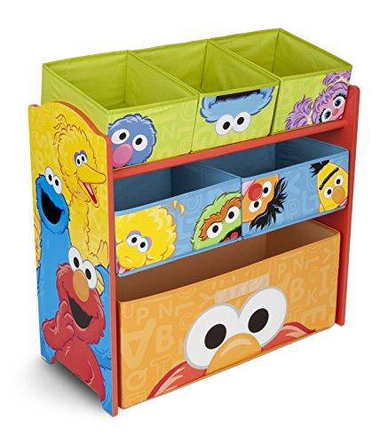 Delta Children 6-Bin Toy Storage Organizer Sesame Street