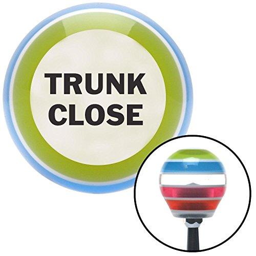 Black TRUNK CLOSE Stripe Shift Knob with M16 x 15 Insert
