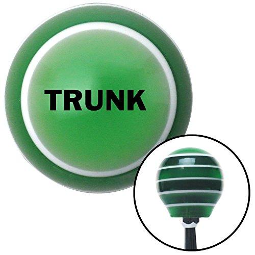 Black TRUNK Green Stripe Shift Knob with M16 x 15 Insert