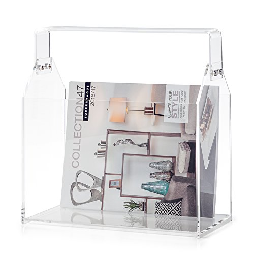 Torre Tagus Acrylic Toolbox Rectangle Magazine Basket White