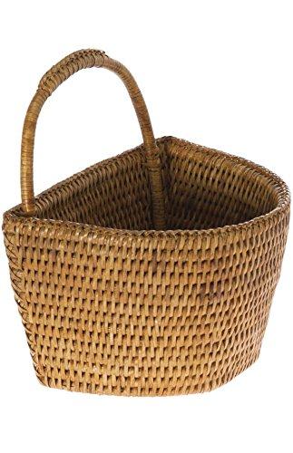KOUBOO La Jolla Rattan Wall Basket Small Honey Brown