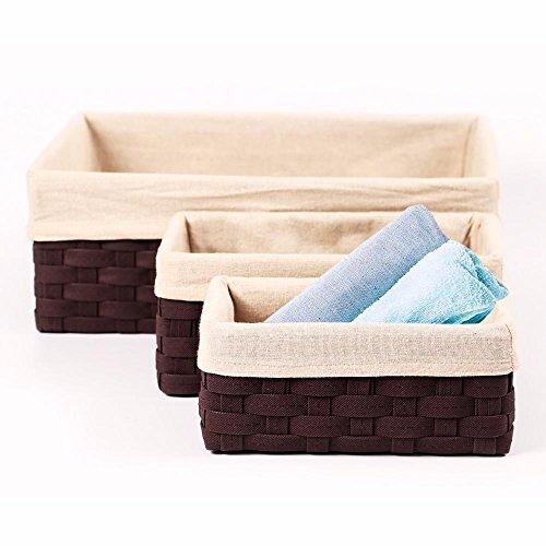 Yaheetech 5PCS Lined Storage Basket Set Various Sizes Storage Home Space Organizer