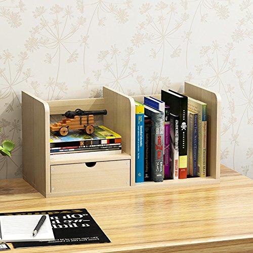 Computer Desk Bookshelf Solid Wood Simple Shelf Small Office Storage Rack Wooden Bookshelf Storage Box