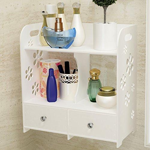 ZAIG Towel Rack Shelf Storage Box Cosmetics Creative Diy Desktop Washbasin With Drawer Storage Rack Waterproof