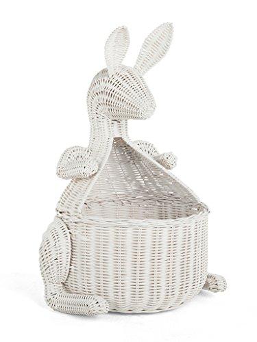 Kangaroo Wicker Storage Basket White