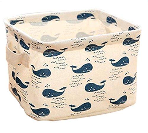2 x Freedi Fabric Storage Cubes Foldable Cosmetic Toys Organizer Mini Square Storage Bins for Nursery with Handle 3