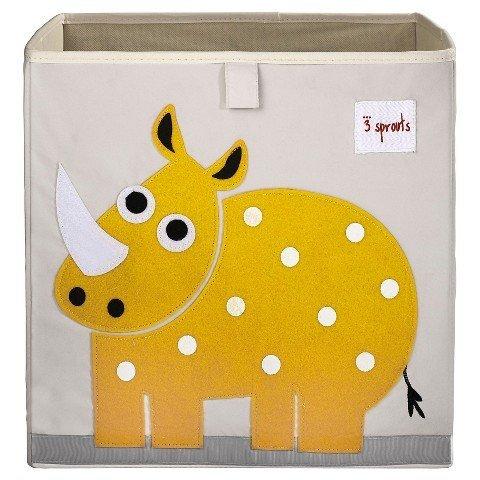 3 Sprouts Fabric Cube Storage Bin - Rhino