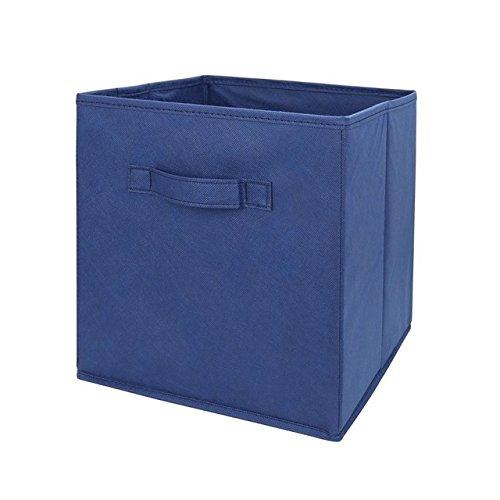 Fabric Cube Storage Bins Foldable Premium Quality Collapsible Baskets Closet Organizer Drawers