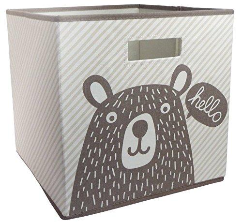 Hello Bear Fabric Cube Storage Bin 13x13