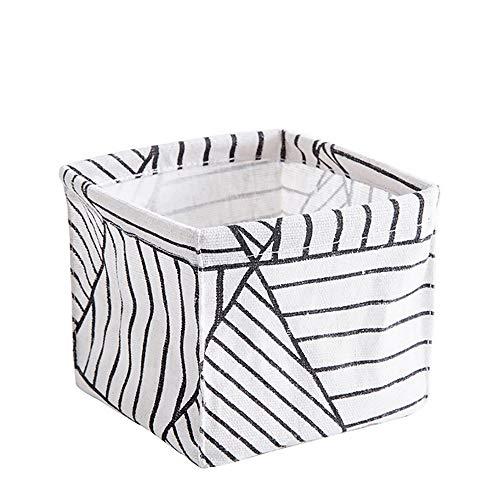 URSING Storage Bin Closet Toy Box Container Organizer Fabric Basket for Home Closet Bedroom Drawers Organizers Black