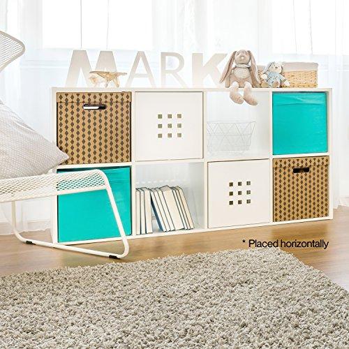 CAP LIVING 468 Cube Room Organizer Shelf Storage Divider 2 x 22 x 32 x 4 Bookcase Colors Available in Espresso and White White 8 Cube