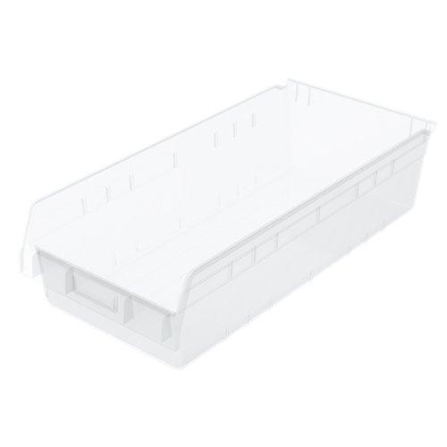 Akro-Mils 30014SCLAR ShelfMax Plastic Nesting Shelf Bin Box 23-58-Inch L x 11-18-Inch W x 6-Inch H Clear 6-Pack