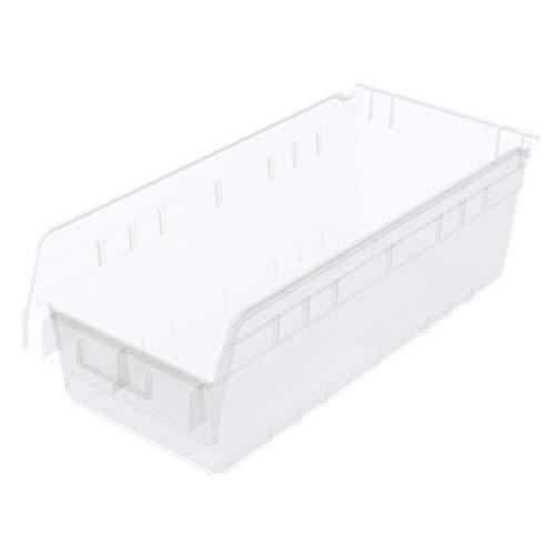 Akro-Mils 30088SCLAR Nesting Plastic Shelf Bin 17-58 x 8-38 x 6 Clear