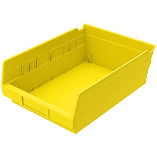 Akro-Mils 30150YELLO Plastic Nesting Shelf Bin Box 12 x 8 x 4-Inch Yellow Case of 12