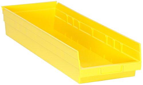 Quantum Storage Systems QSB114YL 4 Economy Shelf Bins 23-58 x 8-38 x 4 Yellow Case of  6