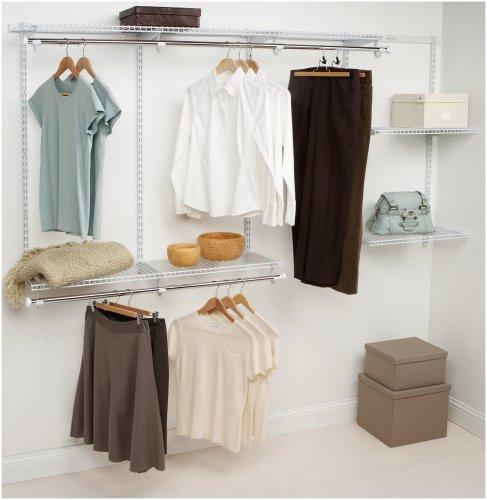 Rubbermaid Configurations Closet Kits 4-8 ft White FG3G5902WHT
