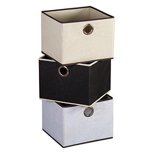 SanLem Canvas Storage Basket 12 x 11 x 9 - Beige