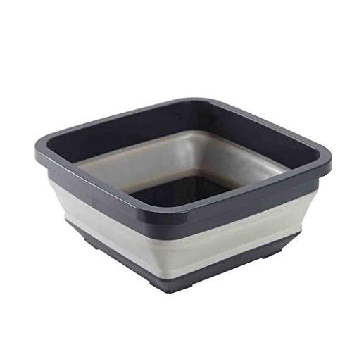 HSada Collapsible Plastic Washing Tub - Portable Dish Washing Basin - Space Saving Washing Basket - Multifunction Fruit Vegetable Storage Basket Washbasin