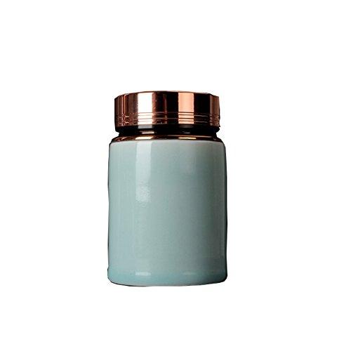 Unusual Tea Coffee Sugar Ceramic Jars with Metal Lids Perfect Storage Solution