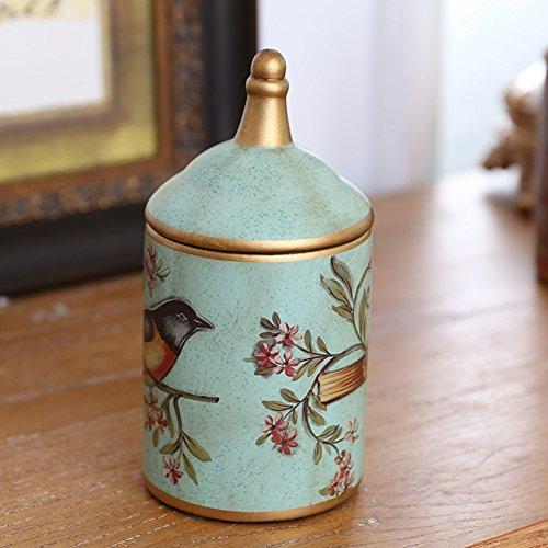 American Rustic Ceramic Storage Jar OrnamentsCreative Desktop Home Living Room Decorations-A
