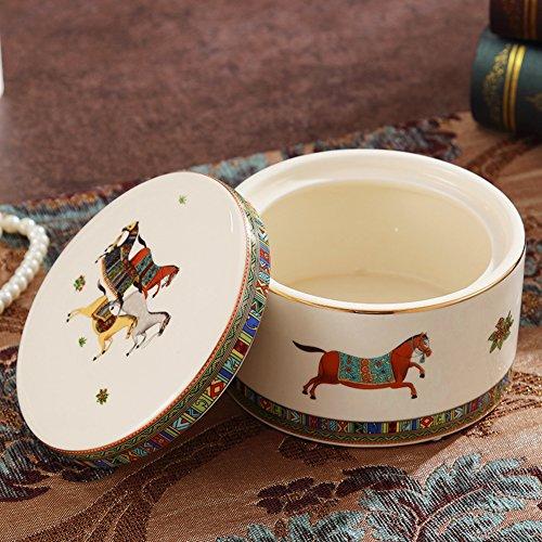 Creative storage jarEuropean jewel ceramic storage jars home decorations ornaments-A