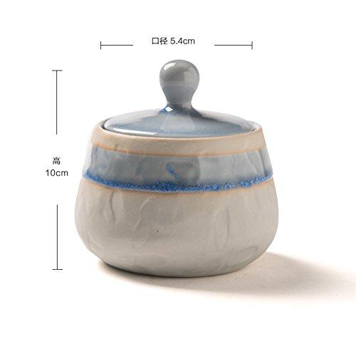 Creative type ceramic storage jars seasoning salt bottle sugar with lidReserve box in the kitchen-A