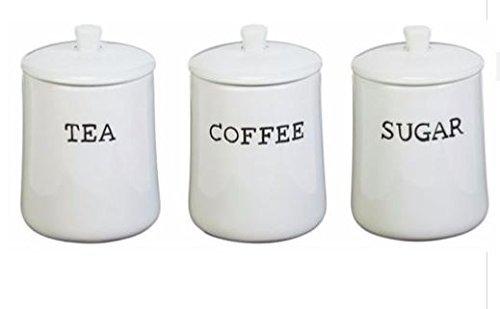 New York Set of 3 Ceramic Storage Jars Kitchen Storage Canister Food Jars by ultimatesalestore