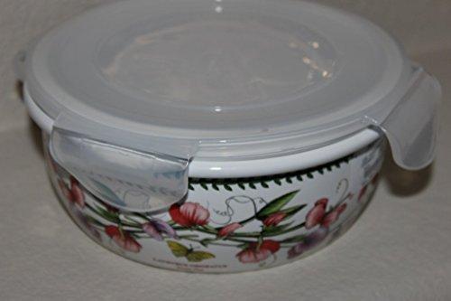 Portmeirion Botanic Garden Round Ceramic Storage Jar with Locking Lid 5 Inch by Portmeirion