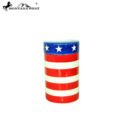 RSM-2005 Montana West US Flag Ceramic Storage Jar
