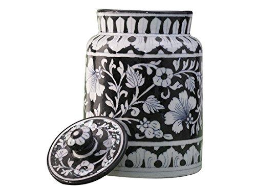Storage Jar Ceramic  Floral Pottery Pickle Jar