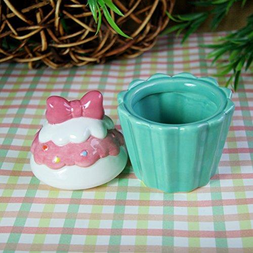 ceramic storage jar jewelry box creative crafts and gifts Cup cake shaped craftOriginal design jewelry box in Europe-C