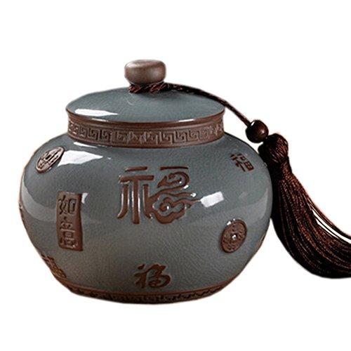 Chinese Tea Caddy Tea Container Snack Pot Tea Coffee Storage Jar750 ML