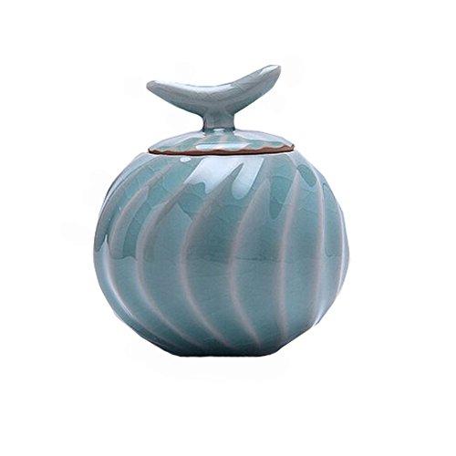 Tea Caddy Chinese Porcelain Tea Container Snack Pot Tea Coffee Storage Jar