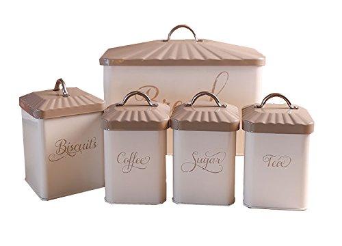 5 pieces bread biscuitscoffeeteasugar bin canister set