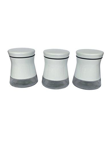Cucina Mia Coffee Tea Sugar Canister Storage Jars Set White