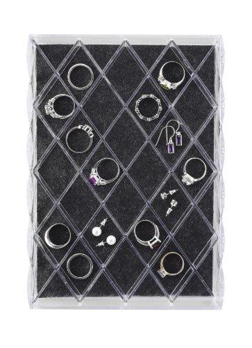 Whitmor Clear Diamond Jewelry Tray