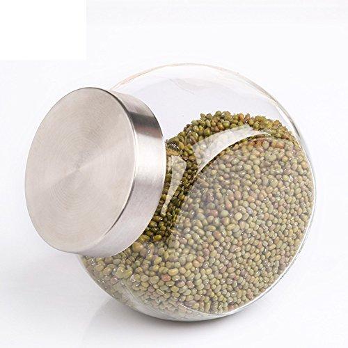 home kitchenGlass cruetSpice jarseasoning boxsalt shakersealed canister-G